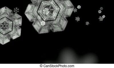 Snowflake falling
