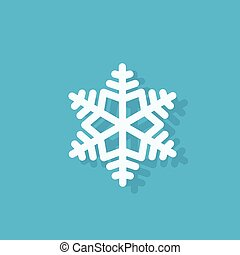 snowflake flat icon design vector illustration
