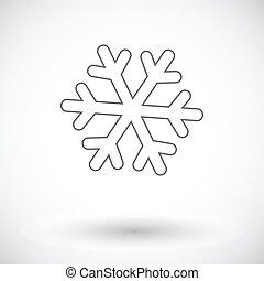 Snowflake flat icon