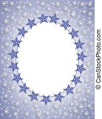 snowflake, foto, cartão, quadro