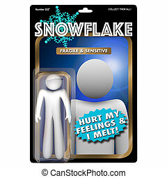 Snowflake Fragile PC Sensitive Millennial Action Figure 3d...