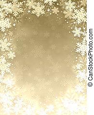 Snowflake frame - Gold snowflake frame.New year.