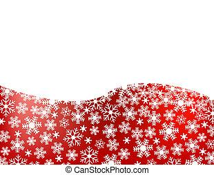 snowflake, fundo, vermelho