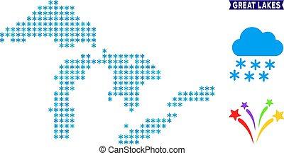 Snowflake Great Lakes Map