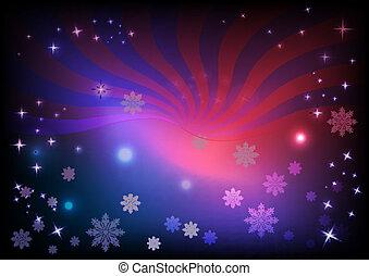 Snowflake horizontal background.