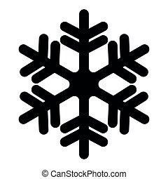 Snowflake icon. Christmas and winter theme. Simple flat black illustration with rounded corners on white background