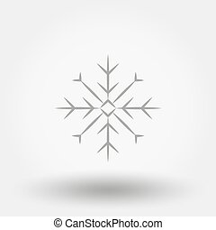 snowflake., icon., flat., vector.
