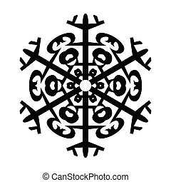 Snowflake Icon Graphic Symbol Design. Vector illustration isolated on white background.