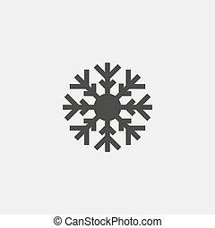 Snowflake icon in black color. Vector illustration eps10