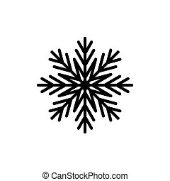 Snowflake icon isolated on white background. Vector illustration