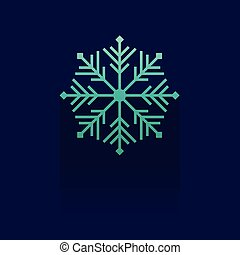 snowflake icon on blue background