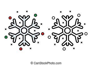 Snowflake icon on white background, vector illustration