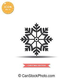 Snowflake icon simple flat style vector illustration.