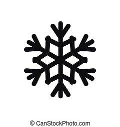 Snowflake icon, simple style