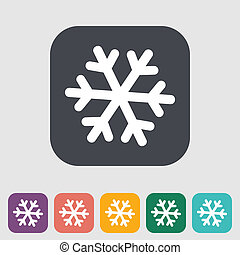 Snowflake icon. - Snowflake flat icon. Vector illustration...