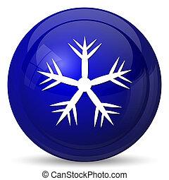 Snowflake icon. Internet button on white background.