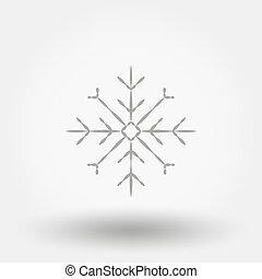 snowflake., icon., vector., flat.