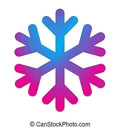 Snowflake icon. Vector illustration.