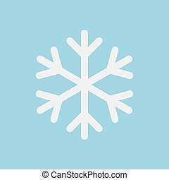 Snowflake icon vector isolated on blue background