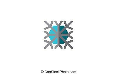 Snowflake Icon Winter Template Vector