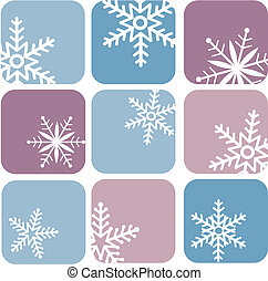 snowflake icons on blue and purple background -1