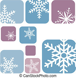 snowflake icons on blue and purple background -2