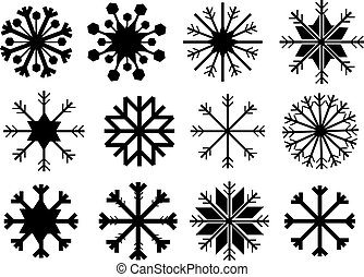 Snowflake in Black and White Vector Design