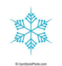 Snowflake in flat design. Vector illustration.