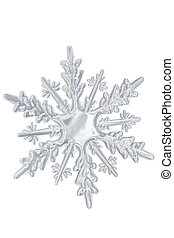 snowflake., inverno, trasparente