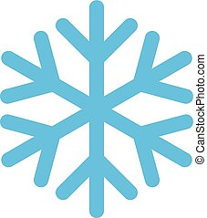 Snowflake isolated on white background. Vector icon