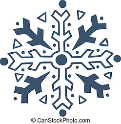Snowflake isolated on white.