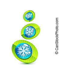 Snowflake leaf concept - Vector illustration for your design