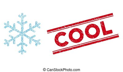 Snowflake Line Mosaic and Grunge Cool Watermark - Mosaic ...