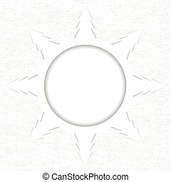 Snowflake made of Christmas trees on white grunge background