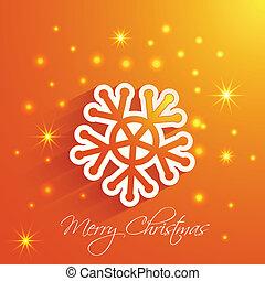 snowflake  Merry Christmas card