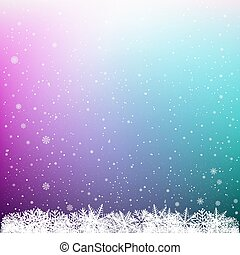 snowflake multicolor background