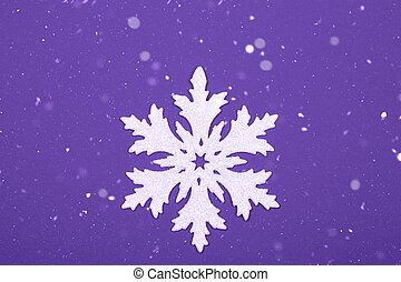 Snowflake on blue background