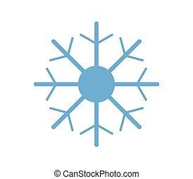 snowflake on white background