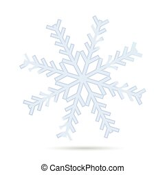 snowflake one vector illustration