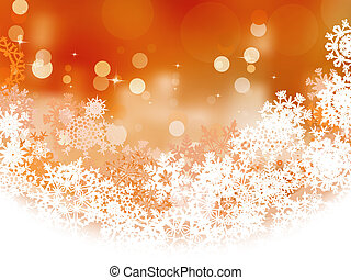 Snowflake background golden Christmas ornament and holiday over defocus lights. And also includes EPS 8 vector
