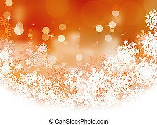 Snowflake orange Christmas holiday. EPS 8