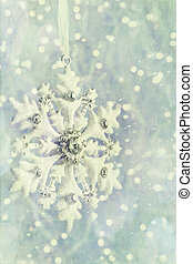 Snowflake ornament with vintage feeling