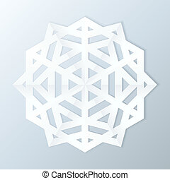 snowflake., papier