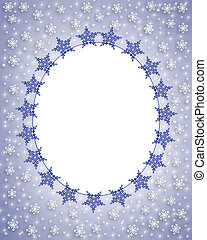 Snowflake photo card frame