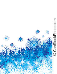 snowflake pile blue space - christmas background image with ...