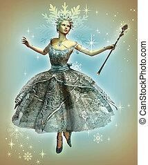 Snowflake Princess - a dancing ice princess with ball gown ...