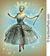 Snowflake Princess - a dancing ice princess with ball gown...