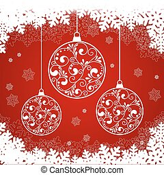 snowflake red background