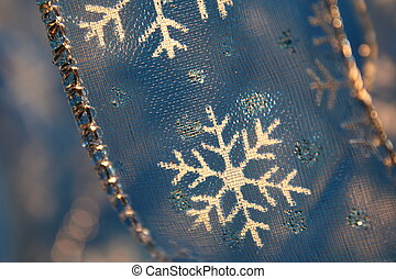 Snowflake Ribbon Closeup
