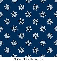 Snowflake seamless pattern.